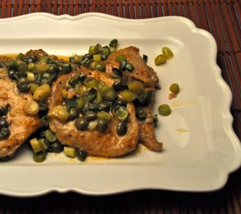 Veal with Green Garlic, and Capers