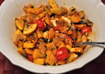 Sautéed Summer Squash with Cherry Tomatoes