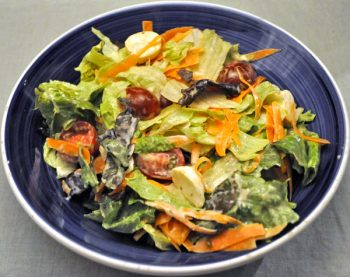 Simple salad with Creamy Yogurt Dressing