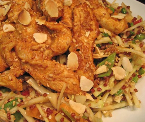 Sesame Chicken Cabbage Salad