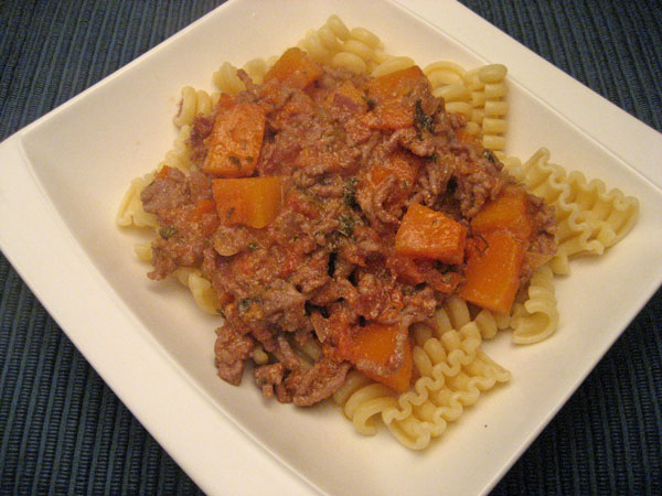 Bolognese with Butternut Squash