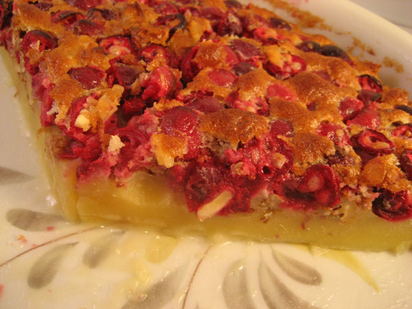 Cranberry Walnut Clafoutis