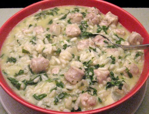 Sausage & Spinach Risotto