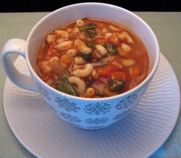 Chunky Tomato Spinach Soup