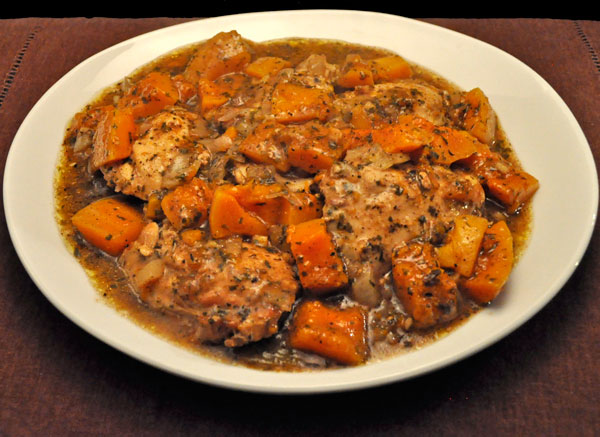 Slow Cooker Moroccan Chicken, Winter Squash
