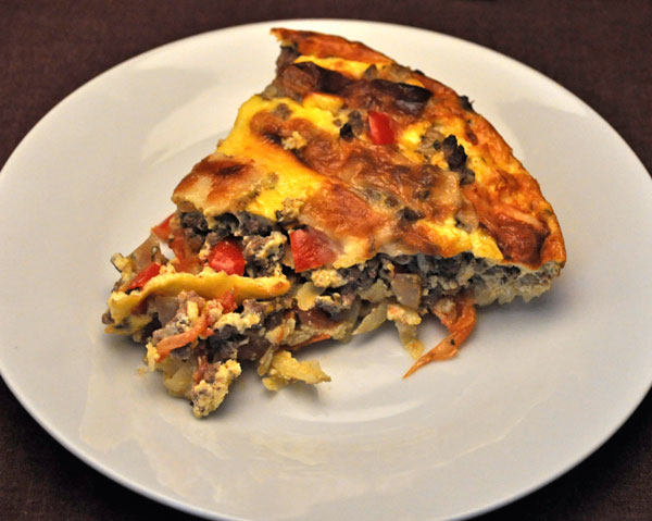 Beef and Pepper Quiche