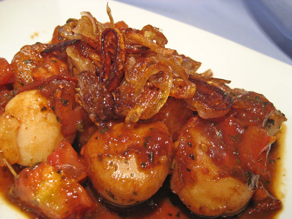 Seared Scallops with Browned Shallots