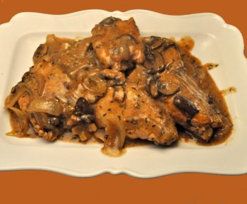 Chicken Thighs with Mushrooms, Slow Cooker