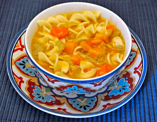 Pumpkin Chicken Noodle Soup