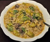 Brussels Sprouts and Sausage Risotto