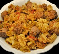 Pasta with Sausage & Cabbag