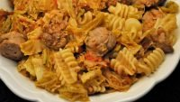Pasta with Sausage & Cabbage