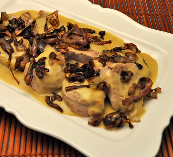 Pork Medallions with Mustard Pan Sauce