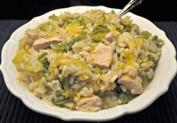 Turkey, Cabbage and Leek Risotto