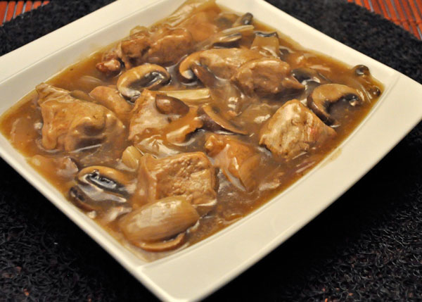 Veal Tips with Mushrooms