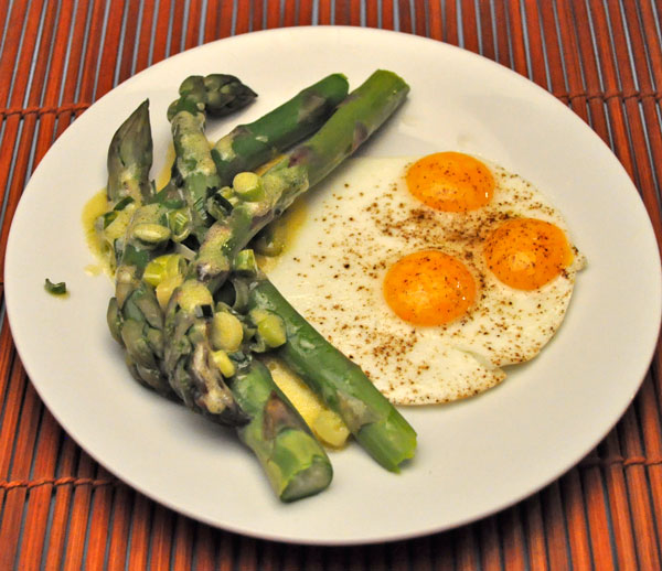 Asparagus Salad with Quail Eggs
