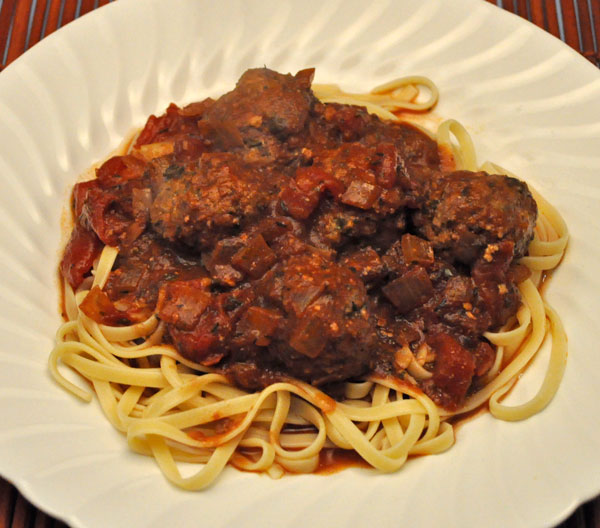 Ginger Meatballs, Linguine