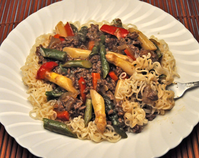 Beef and Asparagus Lo Mein