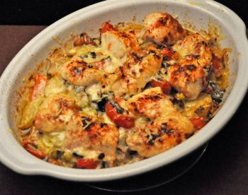 Chicken, Potato, Tomato Bake