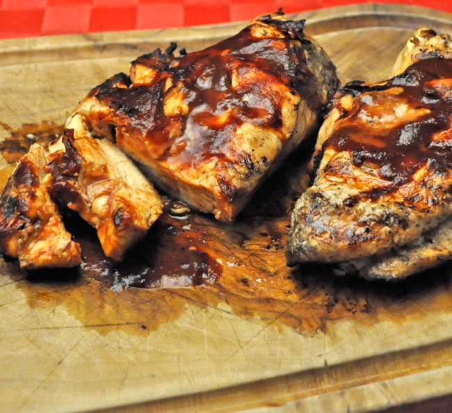 Grilled Chicken Breasts, Ginger Barbecue Sauce