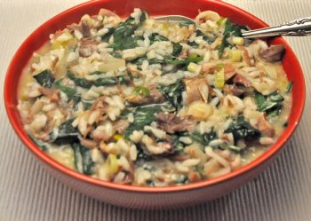 Duck and Spinach Risotto