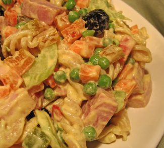 Pasta Salad with Ham & Peas