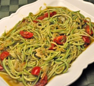 Summer Squash Noodles with Pesto