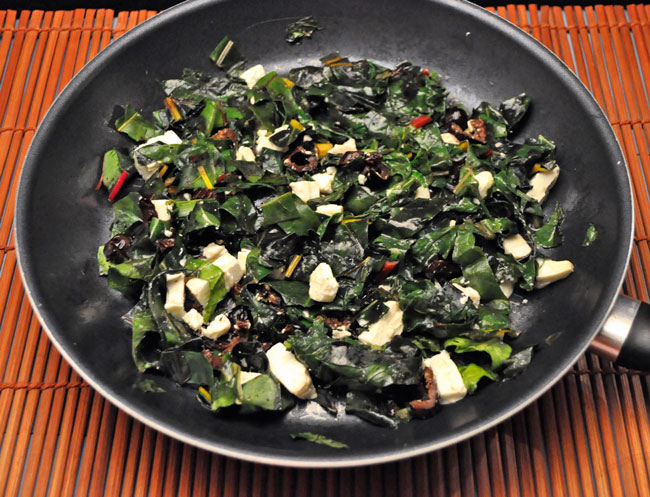 Skillet Chard with Feta