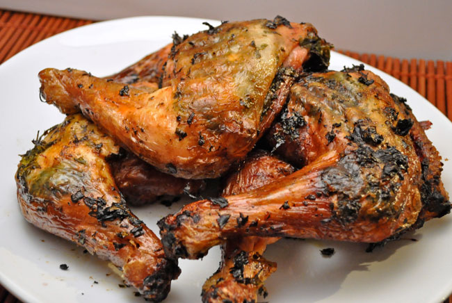 Grilled Chicken with Herbs & Lemon