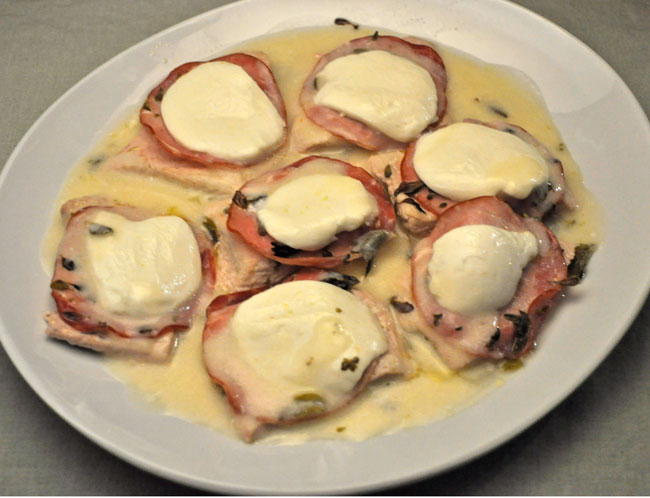 Turkey Cutlets with Bacon. Mozzarella