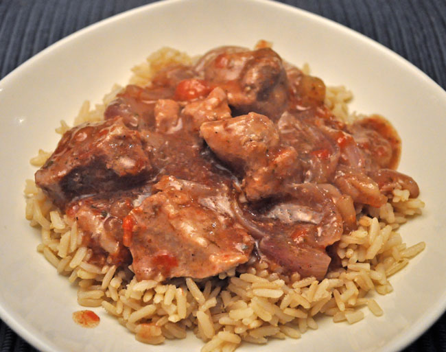 Slow Cooker Pork & Tomatoes