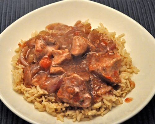Pork & Tomatoes, Slow Cooker