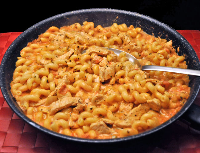 Skillet Pasta with Turkey and Horseradish