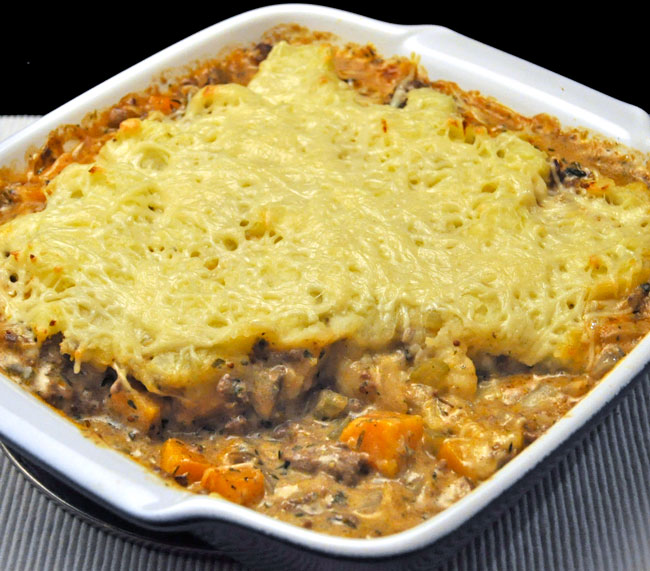 Mashed Potato Topped Beef Pie