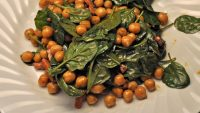 Spinach & Chickpea Salad