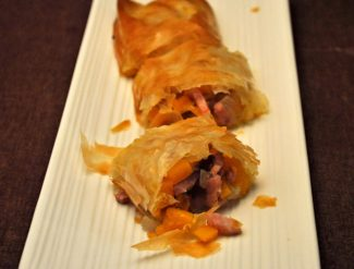 Bacon and Butternut Squash Strudel