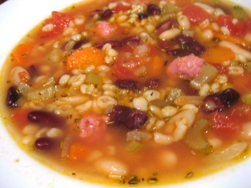 Bean Soup with Barley
