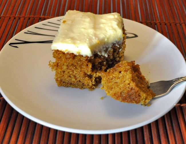 Pumpkin Cake, Cream Cheese Frosting