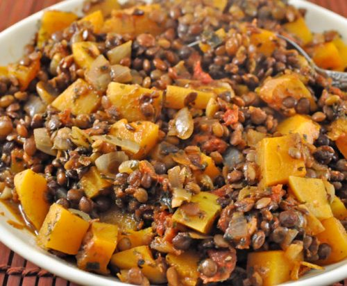 Butternut Squash and Lentils