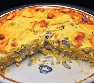 Sausage and Pumpkin Quiche
