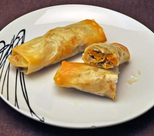 Winter Squash Egg Rolls