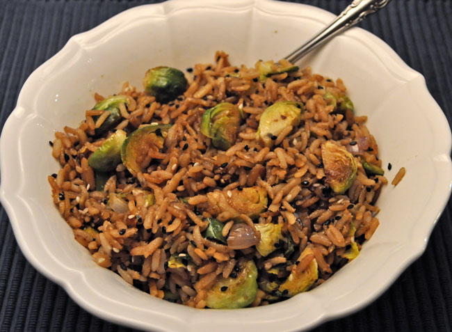 Fried Rice with Brussels Sprouts