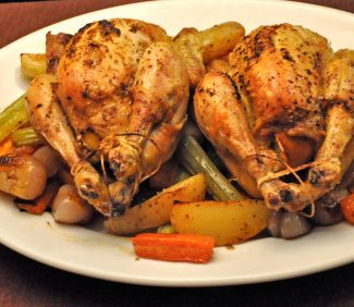 Roast Hens with Potatoes