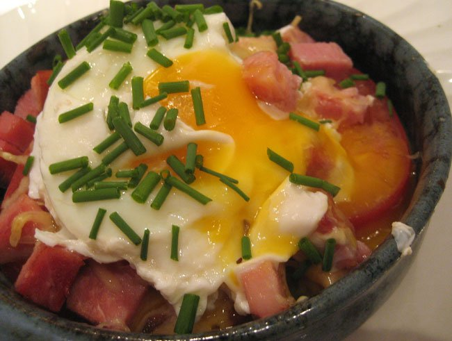 Eggs with Tomatoes & Ham