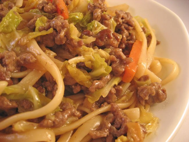 Beef & Cabbage Lo Mein