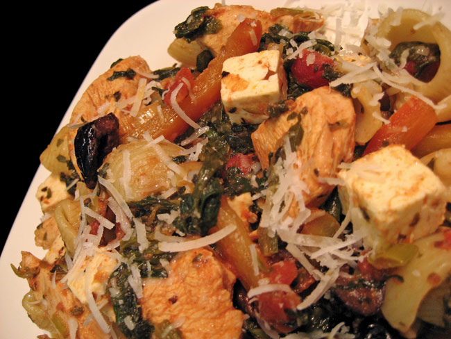 Pasta with Chicken & Spinach