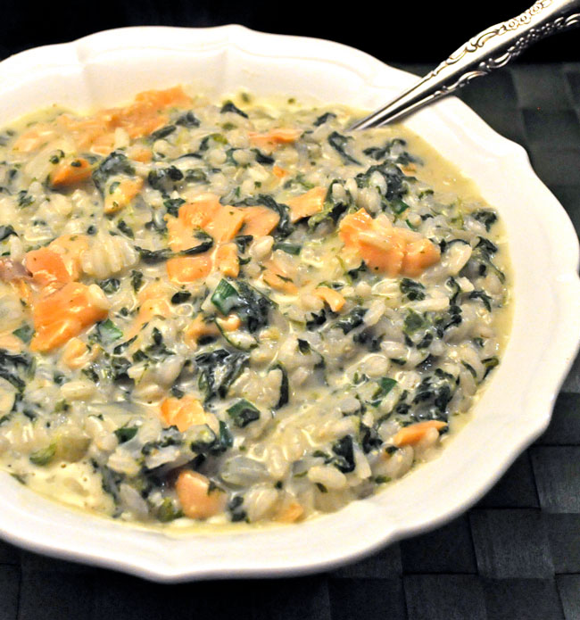 Salmon & Spinach Risotto