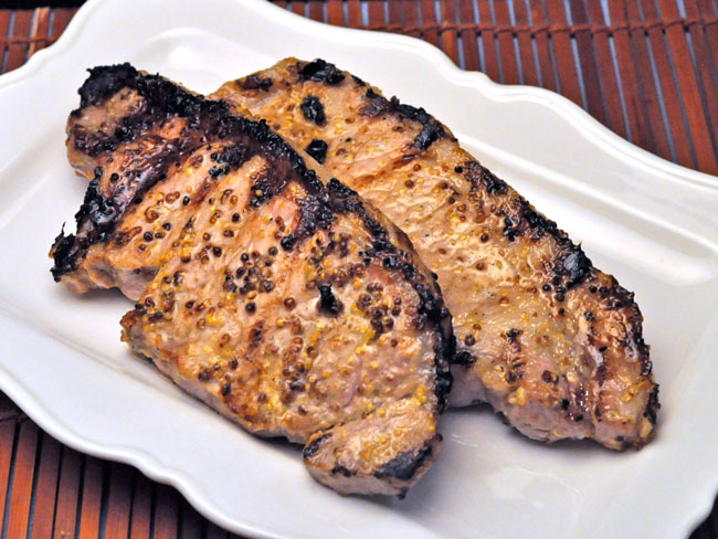 Grilled Pork, Sweet Mustard