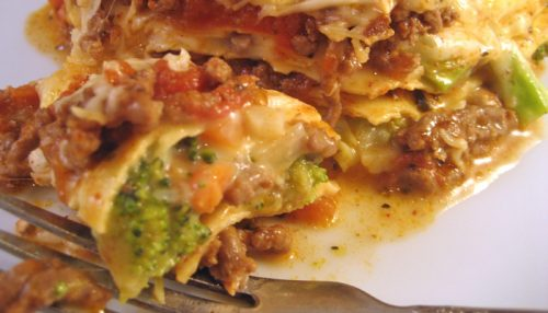 Beef & Broccoli Lasagne