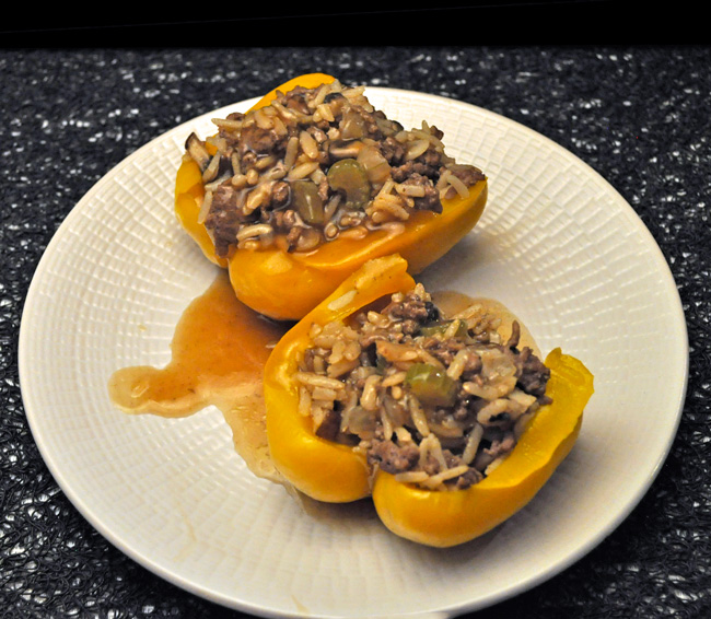 Peppers Stuffed with Beef & Mushrooms